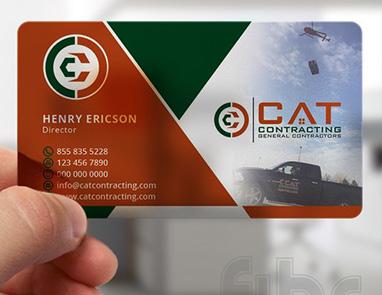 Transparent Business Cards