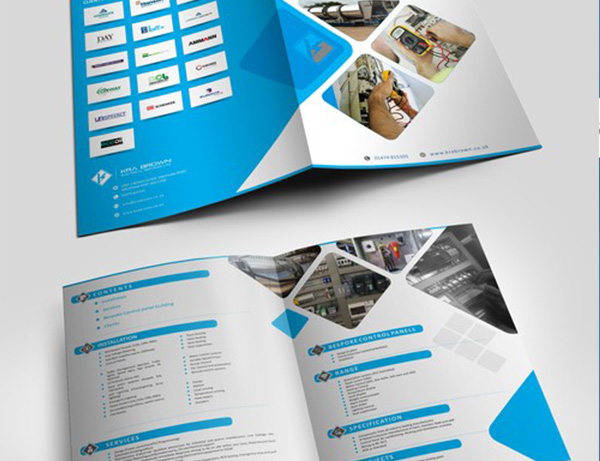 Bifold brochure designing printing solution